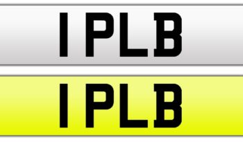 1PLB – Private Number Plate full