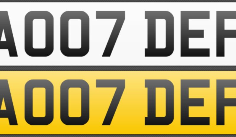 AO07 DEF – Private Number Plate full