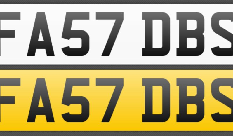 FA57 DBS – Private Number Plate full