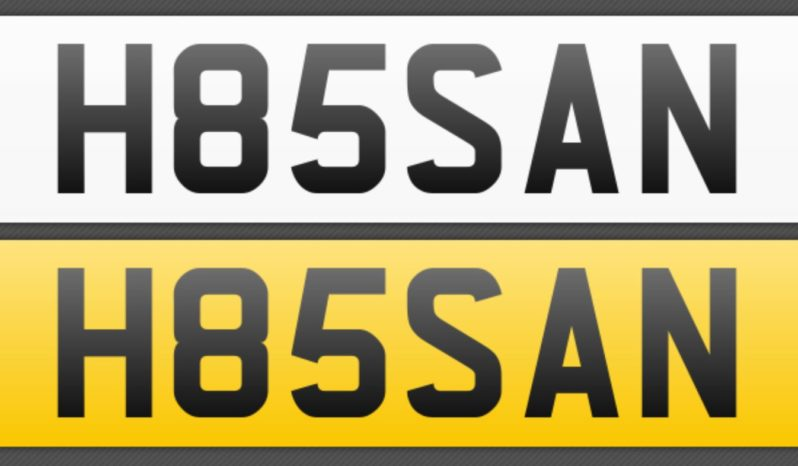 H85SAN – Private Number Plate full