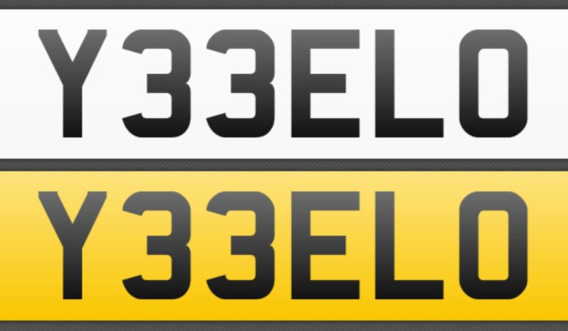 Y33 ELO – Private Number Plate full