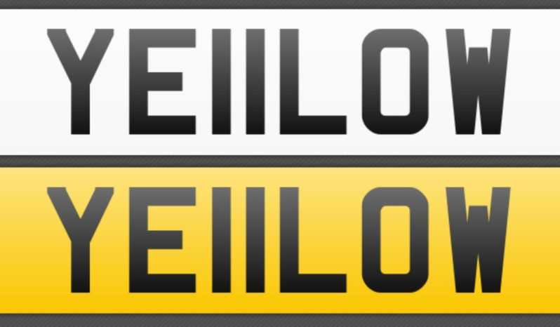 YE11LOW – Private Number Plate full