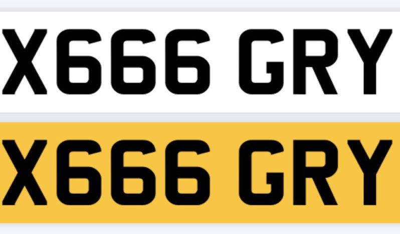 X666 GRY – Private Number Plate full