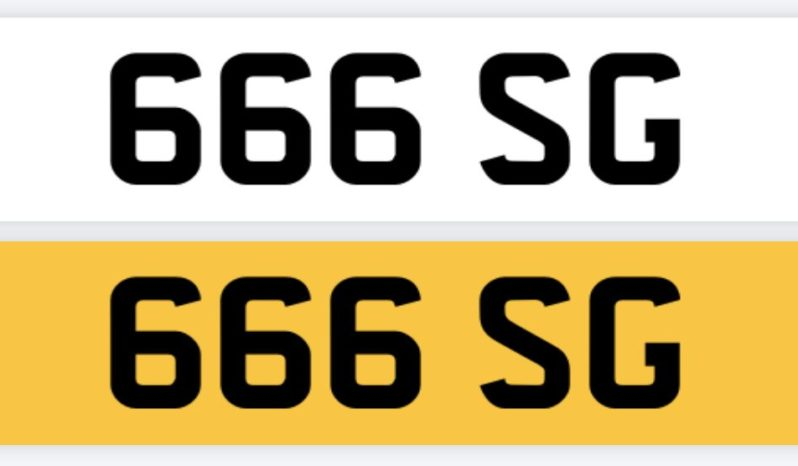 666 SG – Private Number Plate full